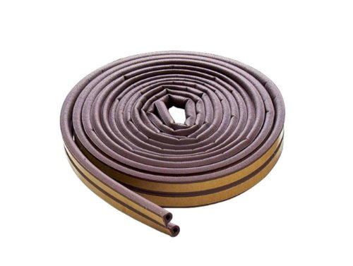 M-D Building Products 63602 M-D All Climate D Profile Weather-Strip, 0.359 in W X 17 Ft L X 0.3125 in H, Brown