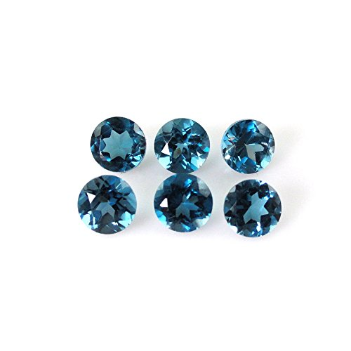 Natural London Blue Topaz Round 4mm Approximately 2.00 Carat Loose Gemstone (16058) by BestInGems