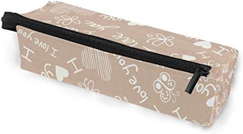 Estuche para bolsa de lápices Gafas de sol Te amo Mariposa Carta Cosmética Estudiantes Papelería Bolsa Cremallera para niñas Niños: Amazon.es: Oficina y papelería
