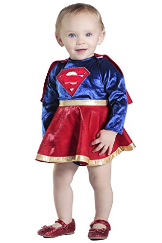- 41avFgI3qXL - Infant/Toddler DC Comics Supergirl Dress & Diaper Cover Set – 4 sizes