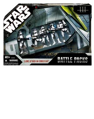 Star Wars: 30th Anniversary Collection Battle Packs - Clone Attack On Coruscant