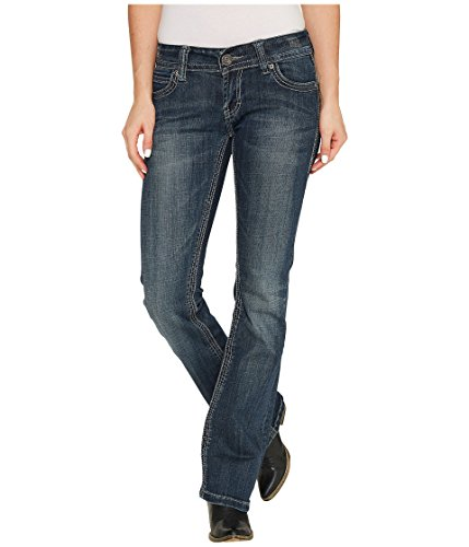 (Stetson Thick Denim Pieced Back Pocket Ladies Jean- 818 Contemporary Styling (10W x lL))