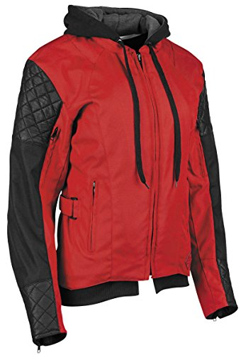 Discount Motorcycle Pants - Speed & Strength Women's Double Take Textile Jacket (LARGE) (RED/BLACK)