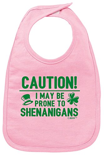(Funny Baby Clothes Baby Shower Gifts Prone to Shenanigans St Patricks Day Baby Bib)