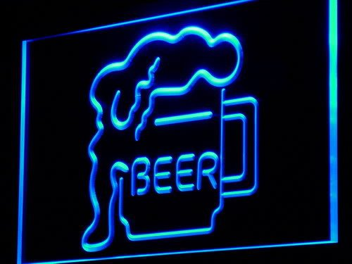 ADVPRO Cartel Luminoso j222-b Beer Cup Display Bar Neon ...