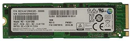 Samsung PM961 Polaris 128GB M.2 NGFF PCIe Gen3 x4, NVME Solid state drive SSD, OEM (2280) (MZVLW128HEGR-00000) by Samsung