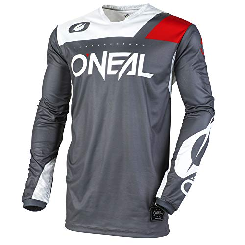 - O'Neal Unisex-Adult Jersey (Gray/White, M)