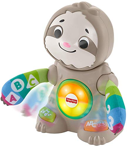 41avHBPJnbL - Fisher-Price Linkimals Smooth Moves Sloth - Interactive Educational Toy with Music, Lights, and Motion for Baby Ages 9 Months & Up