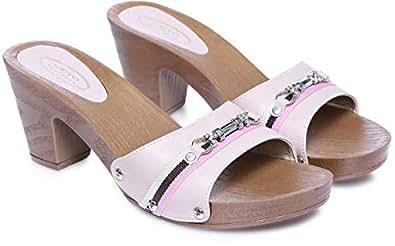 Ceyo Beige Heel Sandal For Women