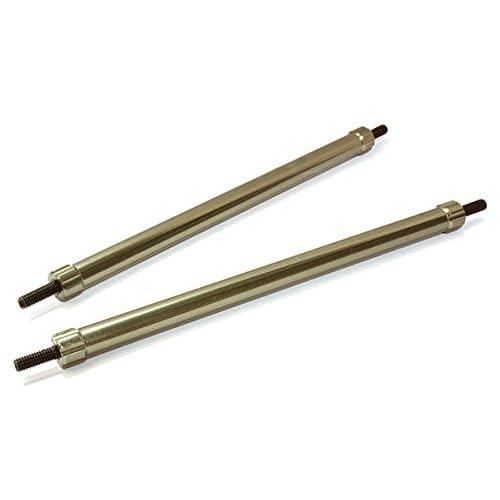 Integy RC Model Hop-ups C26692GUN Billet Machined 120mm Aluminum Linkages (2) M3 Threaded for 1/10 Scale Crawler