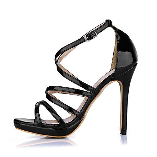 bien talon avec les dîner femme d'été Sandales Rome chaussures pearl black produits mirror à chaussures femmes Light gold nouveaux haut aBqawR