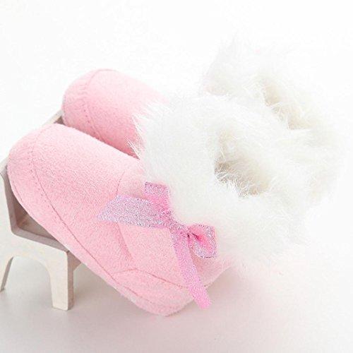 Ouneed® Krabbelschuhe , 0-18 Monate Baby Kleinkind Säuglings Schnee Stiefel weiche Sohle prewalker Krippe Schuhe Rosa