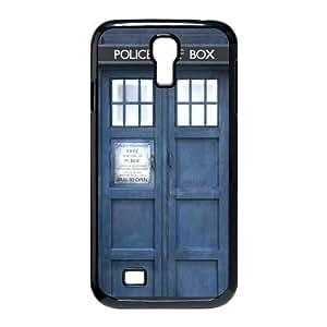 Samsung Galaxy S4 I9500 Black/White Hard Case - Doctor Who Tardis Galaxy S4 Case - Aozzo