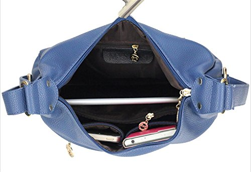Hobo Women's Bagtopia body resistant Cross Blue Small Leather Casual Water PU Bags for Shoulder Purses Ladies qd0tptxrnP