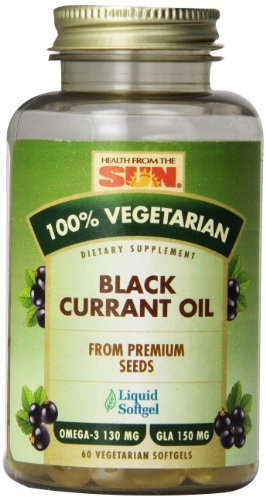 Health From The Sun 100% Vegetarian Black Currant Oil Softgels, 60-Count (Pack of 3)