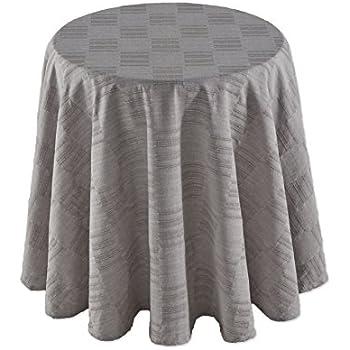 Amazon Com Dansk 7200052370rd Matera Round Tablecloth 70 Quot Platinum Home Amp Kitchen