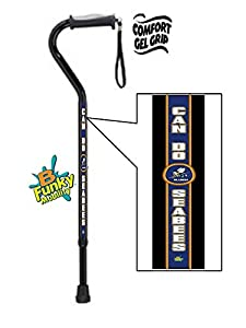 Gel Grip Walking Cane Sea Bees Navy Military by BFunkyMobility Walking Canes
