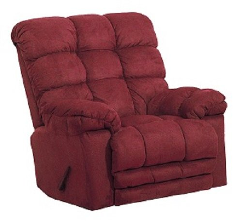 Magnum Chaise Rocker Recliner - 54689-2-2220-40 (Merlot) Catnapper Oversized Magnum Rocker Recliner with Heat and Massage. Free Curbside Delivery.