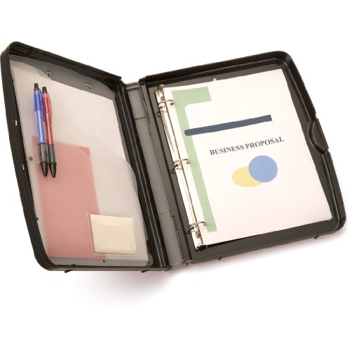 Officemate  Ringbinder Clipboard Storage Box, Charcoal (83309) ()