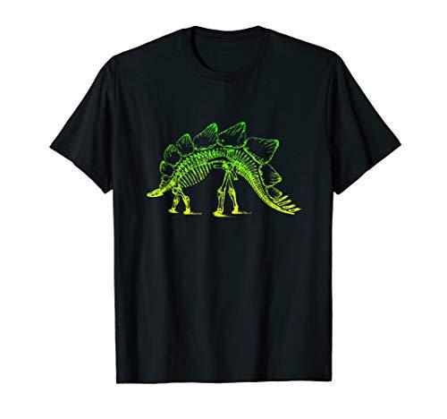 Stegosaurus Dinosaur Skeleton T-Shirt Fossil Dino Bone Shirt -