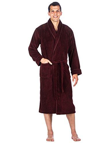 Noble Mount Mens Premium Coral Microfleece Plush Spa/Bath Robe