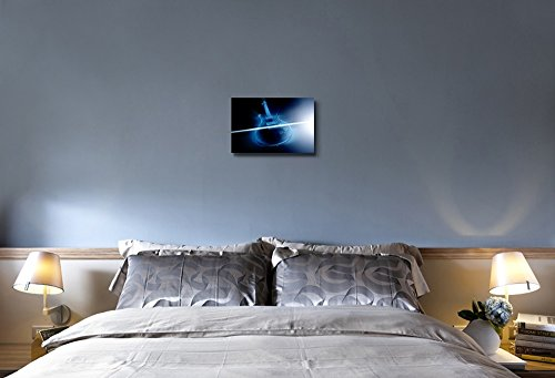 Electric Guitar and Ray of Light Musical Instrument Concept Wall Decor