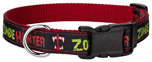 Country Brook Design | Deluxe Zombie Hunter Ribbon Dog Collar - Large for $<!--$12.95-->