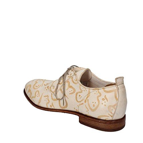 MOMA , Damen Schnürhalbschuhe bianco / beige