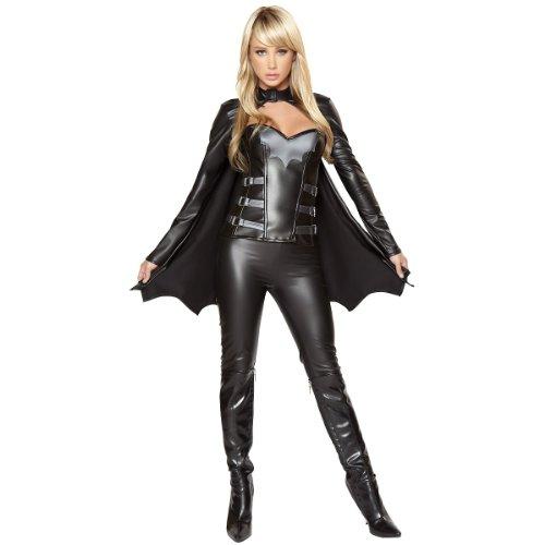 [Sexy Bat Warrior Costume - Small - Dress Size 4] (Batwoman Costume Cape)
