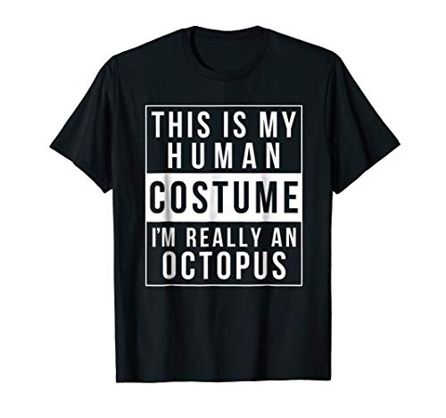 Octopus Halloween Costume Shirt Funny Easy for kids adults ()