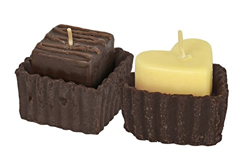 (Set of 2 Gourmet Decadent Chocolate Candles! Heart and Brownie Shape Candles! Incredible Delicious Scents! Perfect for Romance, Gifts, Gift Boxes, Date Night, Spa Days, Around The House, and)