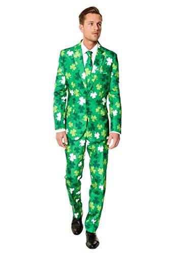 Patrick Pirate Costumes (Carrolls Irish Gifts mens Suitmeister St. Patrick's Day Clovers Suit Medium)