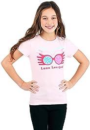 Girls Luna Lovegood Glasses Pink T-Shirt