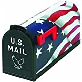 Flambeau 6530US Scenic Decor Series Mailbox, American Flag USA