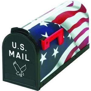 Flambeau 6530US Scenic Decor Series Mailbox, American Flag USA by Flambeau