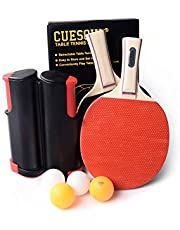 CUESOUL Retractable Anywhere Ping Pong Set with 2 Palas and 4 Pelotas