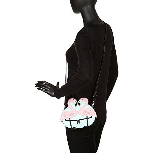 Black Crossbody Bag Love Pink Flamingo Shoulder SzqwZx1Ax