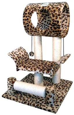 Cat Tree Tower Condo Furniture Scratch Post Kitty Pet House Play Paws (Birch Cedar Bridge)