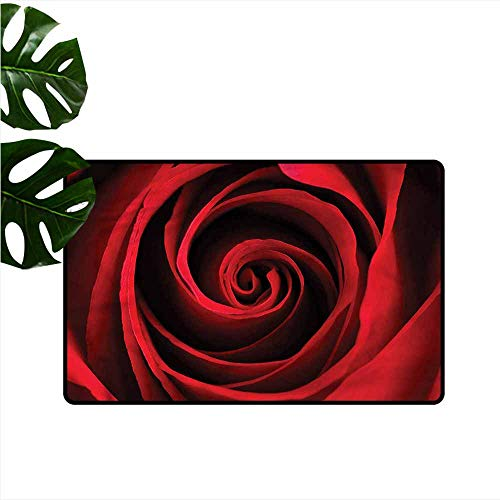 Thin Door mat Rose Sensual Love Symbol Design with Anti-Slip Support W16 - Sensual Hipster