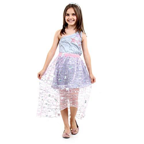 Fantasia Barbie Star Light Luxo Infantil Sulamericana Fantasias Cinza P 3/4 Anos