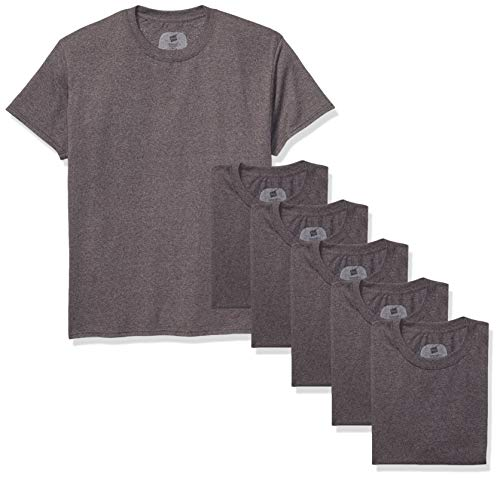 Hanes Men's ComfortSoft Short Sleeve T-Shirt (6 Pack), Charcoal Heather, 2X Large