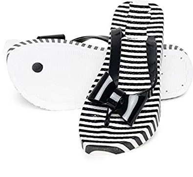 Buy Warlock Black Striped Slippers for