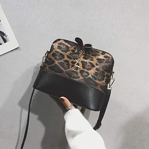 Concha Leopardo Impresión Colgante Hombro Bandolera Bolsa Bolsos Marrón Techo Familizo De Mochila Mensajero Mano Mujer aZptxg8