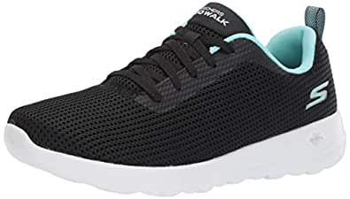 Skechers Australia GO Walk Joy - Upturn Women's Walking Shoe, Black/Aqua, 5 US