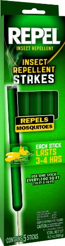 Repel 4263 Insect Repellent Stakes, 5 Count, Case Pack of (Citronella Sticks)