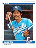 Amos Otis autographed baseball card (Kansas City Royals) 1984 Fleer #351 ball point pen - Autographed Baseball Cards