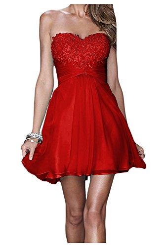 Festlichkleider Braut La mia Kurzes Partykleider Anmutig Dunkel Promkleider Cocktailkleider Spitze Gelb Abendkleider Mit Rot fFq0qwx5Z
