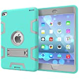 for iPad Mini 4 iPad Mini 5 2019 Case [Full Body Protective] Rugged Three Layer Hard PC+ Soft Silicone Hybrid Armor Cover - with Adjustable Built-in Kickstand - Anti Slip - Shockproof - Impact Resistant