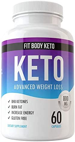Fit Body Keto Diet Weight Loss Supplement for Men and Women - Advanced Weight Loss Blend Capsules - Top Fat Burn BHB Supplement - Burn Fat for Fuel Not Carbs - Appetite Suppressant and Energy Boost 1