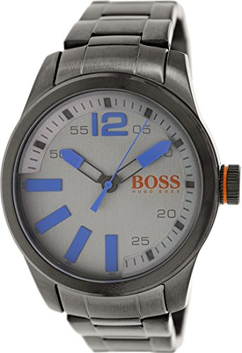 Hugo Boss Men's 1513060 Grey Stainless-Steel Quartz Watch with Grey Dial
